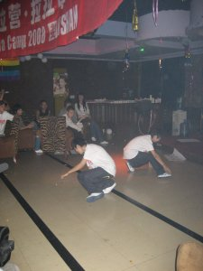 An amazing break dancing performance by two teenage trans boys at the closing ceremony of the conference in Anshan.